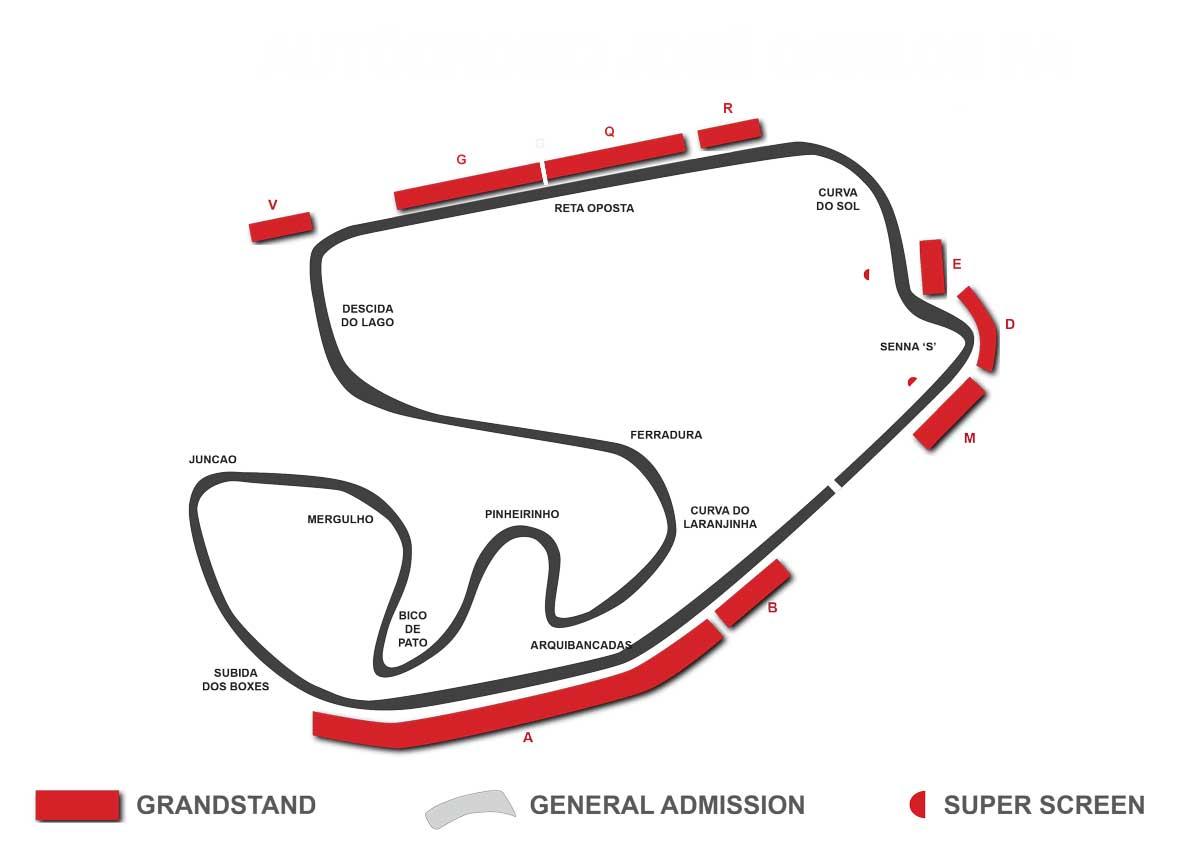 Brazil F1 Grandstand Map