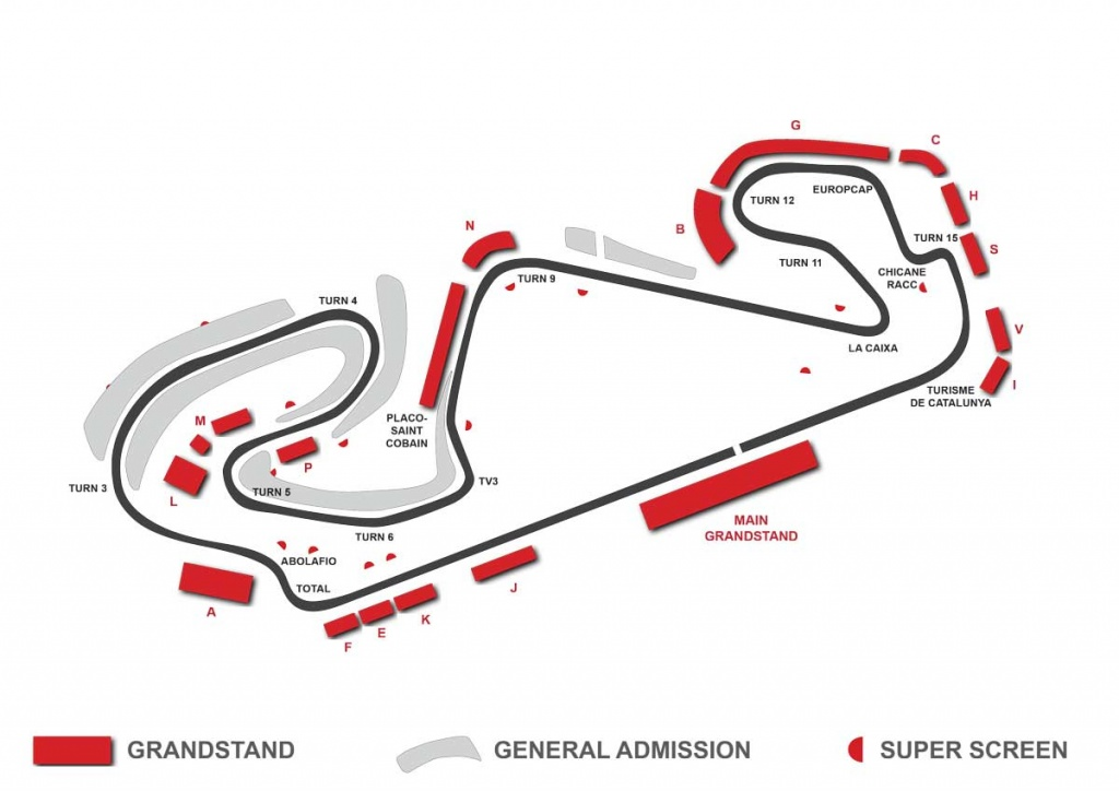 spanish gp grandstand map