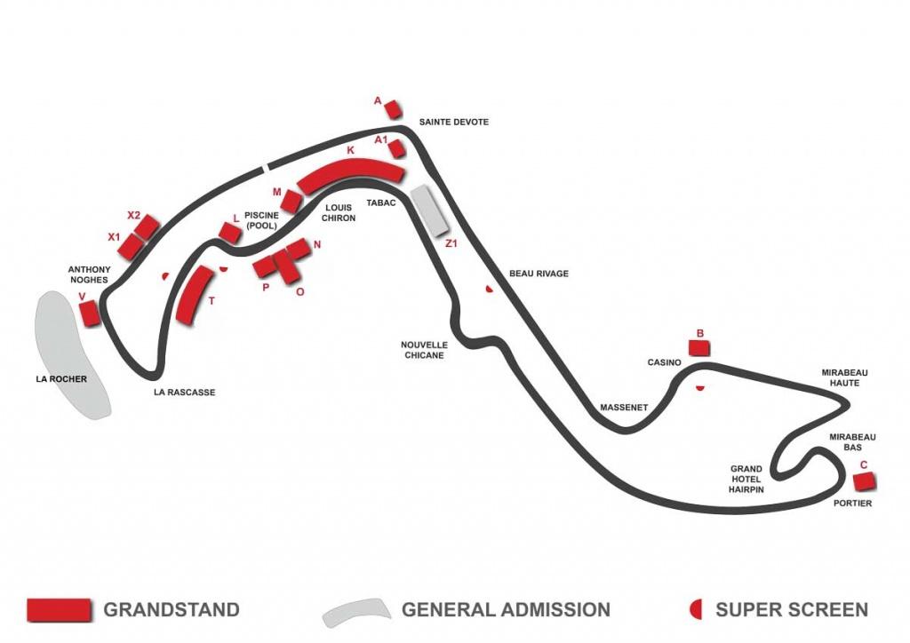 monaco circuit grandstand map