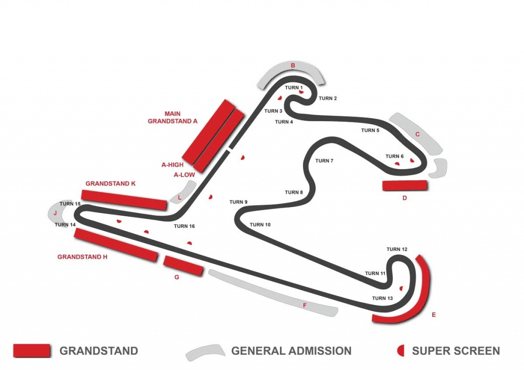 china f1 circuit map