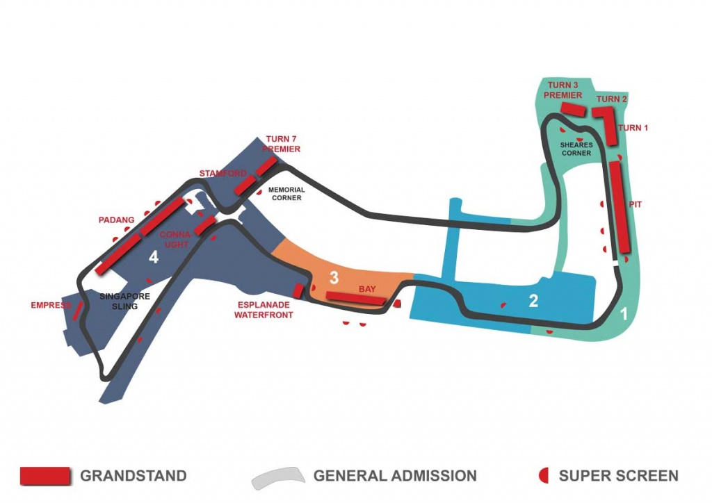 singapore circuit grandstand map