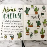 21 Amazing Succulent Cactus Doodles To Try In Your Bullet Journal Thefab20s