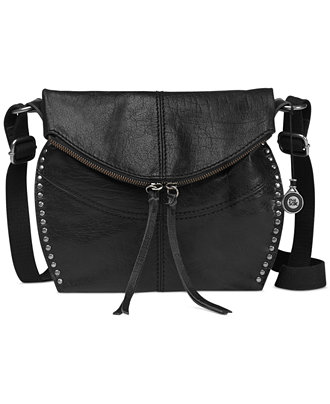 Reflecting Pond Blue Leather Cross Body Bag