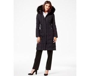 Calvin Klein puffer coat, Macy's