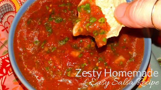 Zesty Homemade Easy Salsa Recipe
