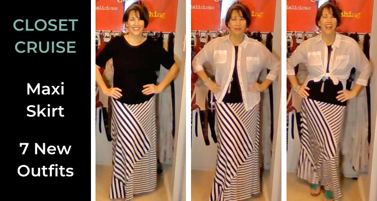 maxi skirt - new outfit combinations