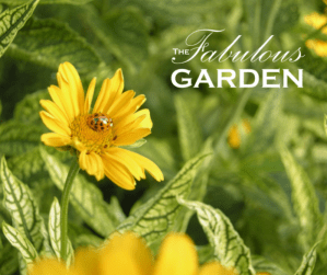 The Fabulous Garden logo and ladybug on a flower