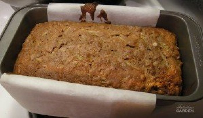 zucchini bread in baking pan