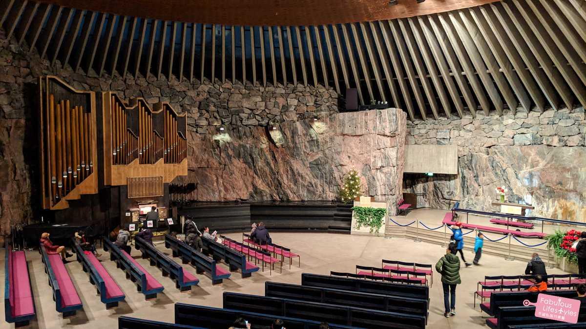 【芬蘭.赫爾辛基】地表最特別!巨石中挖出的巖石教堂!Helsinki Rock Church - 不藏私旅行煮藝