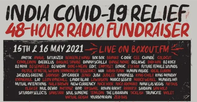 Jacques Greene, Leon Vynehall, and more to play 48-hour radio marathon for India COVID-19 relief 1