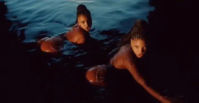 """Chloe x Halle's """"Ungodly Hour"""" video is an aquatic thriller 1"""