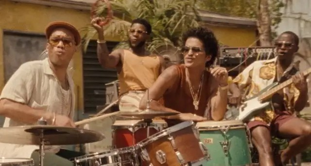 """Bruno Mars and Anderson .Paak roll out in Silk Sonic's """"Skate"""" video 1"""
