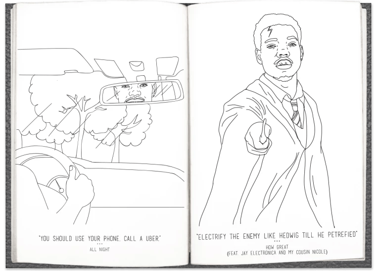 Chance The Rapper's Coloring Book Lyrics Are Now In A Real