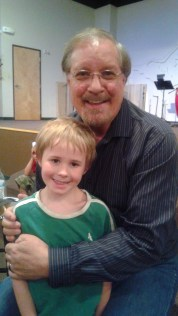 Dain loves Pastor Jim, and wanted a picture with him.