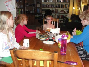Birthday pancakes and song!
