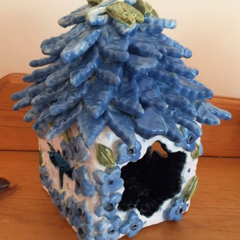 Bright Blue Fairy House