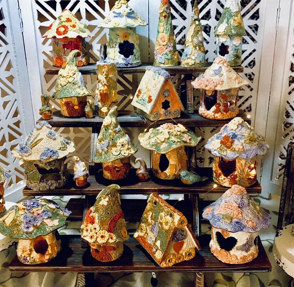 Fairy Houses in the Garden