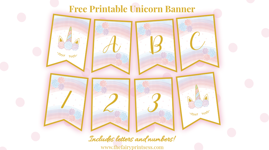 graphic relating to Free Printable Banner Letters Pdf titled Free of charge Printable Unicorn Banner - Fantastic for Occasion Decor and