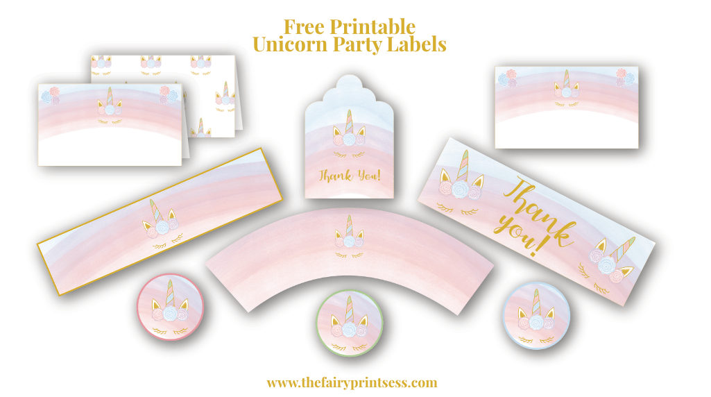 graphic about Unicorn Eyelashes Printable titled No cost Printable Unicorn Celebration Labels, Cupcake Wrappers