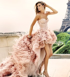 pink-feather-wedding-dress