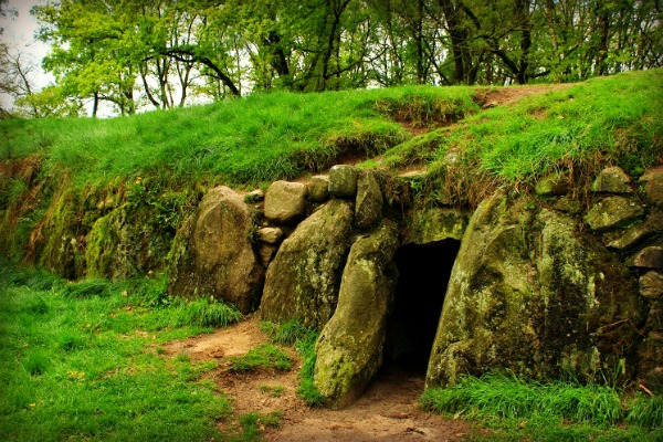 Along the Megalithic Route in the Netherlands, thought to be the tomb of a giant.