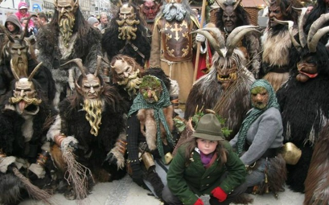 Krampus making a splash in LA at the Krampus Walk.