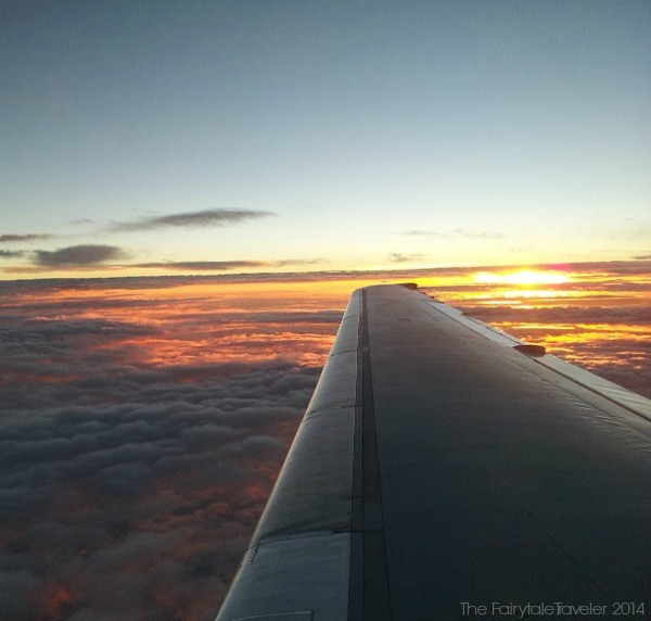 Watching the sun set leaving Tampa International Airport, by Christa Thompson