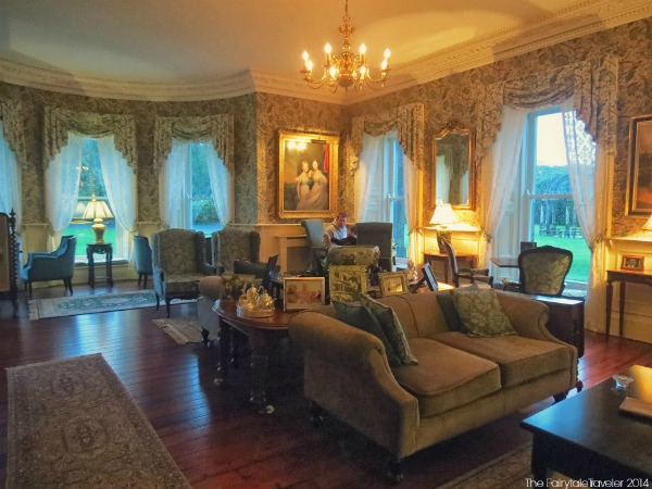 One of the 2 main sitting rooms. I was going back and forth, they were both so lovely.
