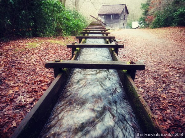Looking back at the Mingus Mill while creeping into the woods. I always find myself creeping into the woods...
