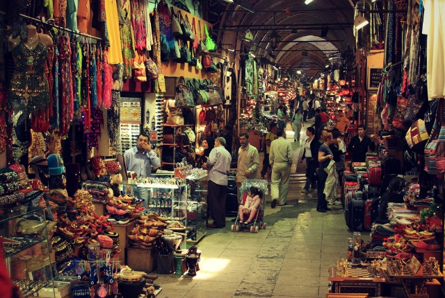 Shop in the authentic Turkish bazaars for a cultural experience.