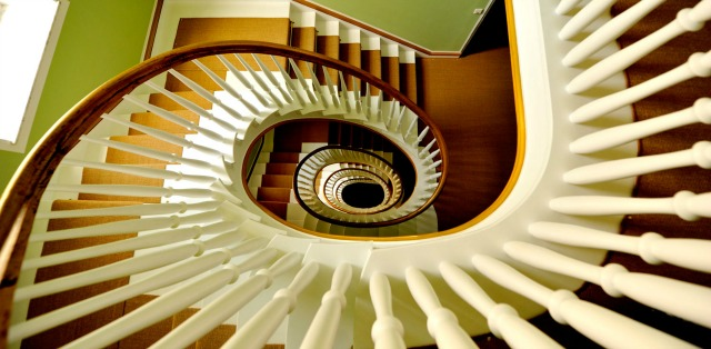 The spiral stairs at the Dude, photo courtesy of The Dude Hotel.