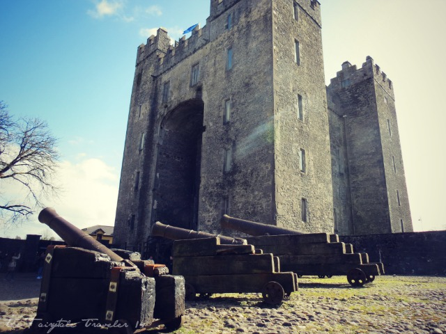 The outside of the Bunratty Castle in Bunratty, County Clare, Ireland