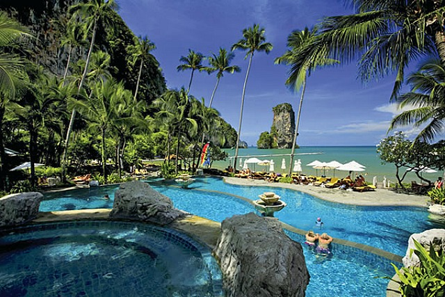 View from the pools overlooking the sea, yes please.