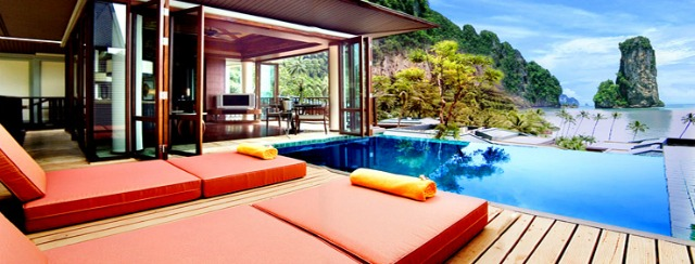 Private pool in villa, great for couples and families.