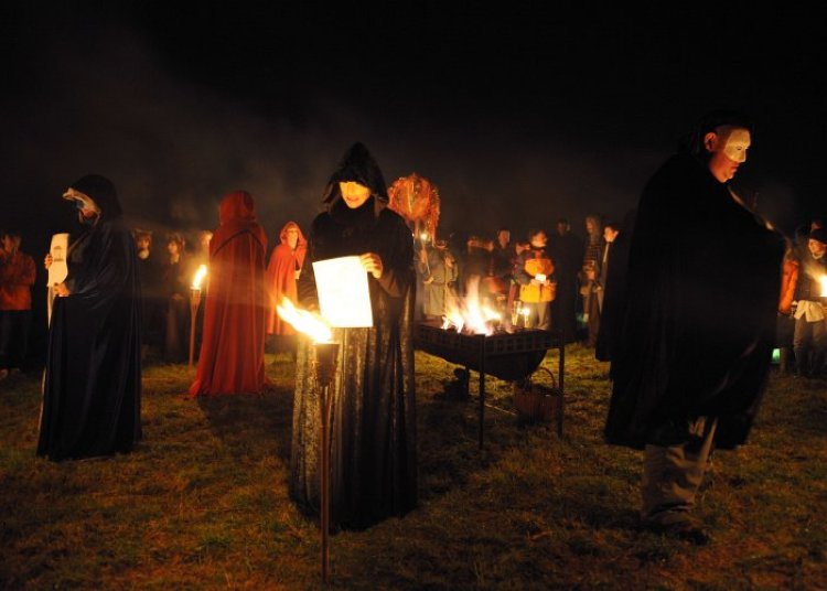 Hill of Ward Torchlit Procession