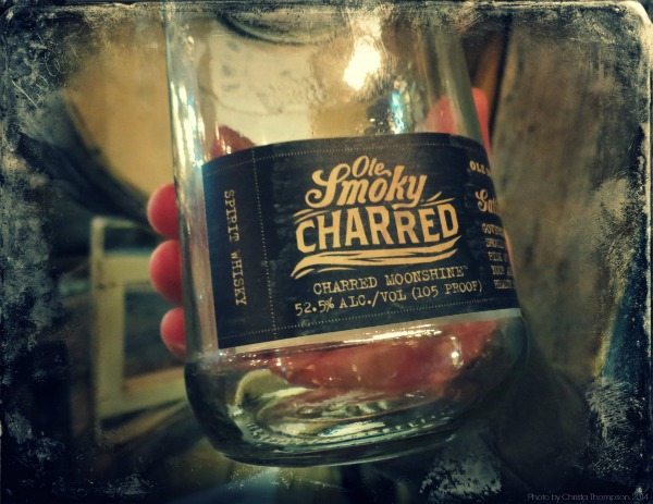 Ole Smoky's newest baby, Charred. After the shine is distilled it sits in whiskey barrels so the flavor sets in from the wood. I haven't tried it yet. When I was there they were all barreled up ready to ship to Knoxville where they bottle it and ship it back to sell. Who know's maybe I'll get a surprise in the mail *wink wink