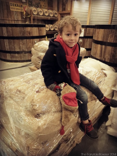 The Little Fairytale Traveler's science lesson for the day was spent watching ground corn ferment and learning the distilling process. Not bad for a five year old.