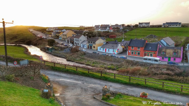 The view of Doolin Village from our room. Yes, that's the tiniest village! You can walk to dinner and enjoy traditional Irish music in the pub. It's perfect!