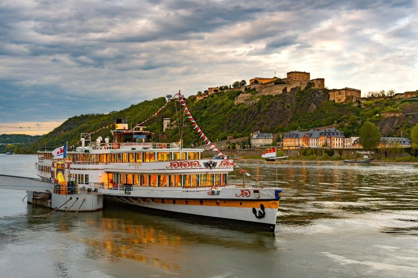 Rhine River cruises, Rhine River sites