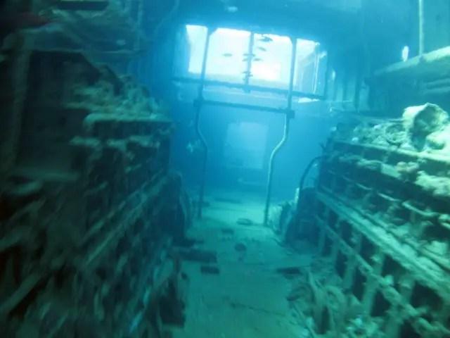 One of the many shipwrecks at Carlisle Bay on the west coast.