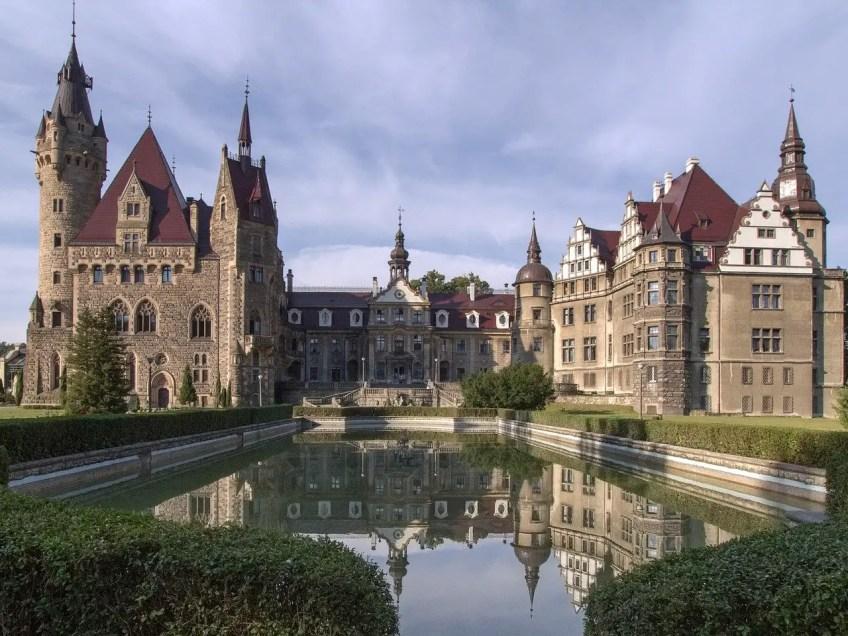 Exterior of Moszna Castle, Cinderella's Castle