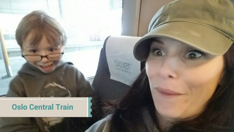 Being silly on the Airport Express Train