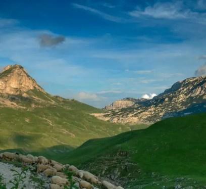 Montenegro by Góry Durmitor. Czarnogóra. 4 lipca 2009 r