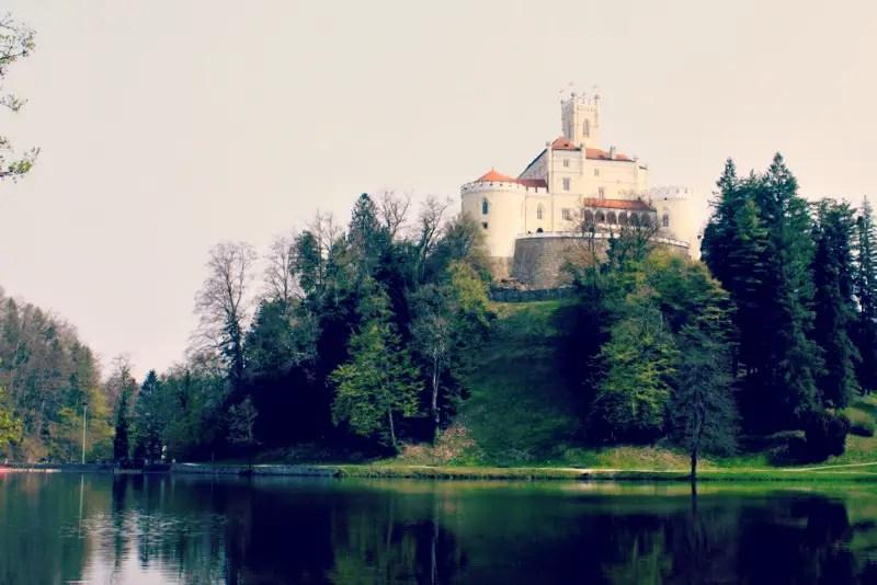 Trakošćan castles in croatia