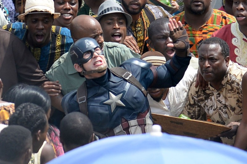 Captain America Civil War Set Photos