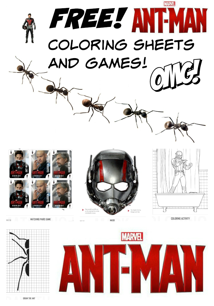 Free Ant Man coloring pages and games