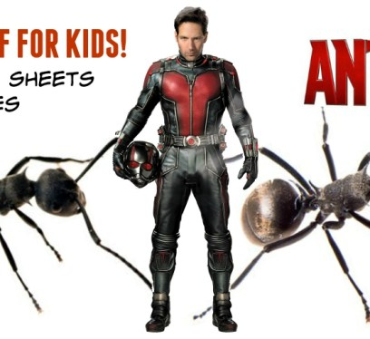 Free Ant Man coloring sheets and games