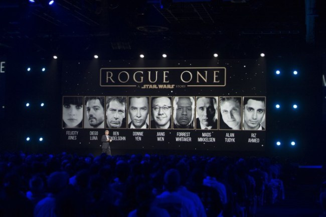 cast Lineup for Rogue One