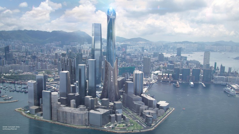 Stark Tower in Iron Man Experience Hong Kong