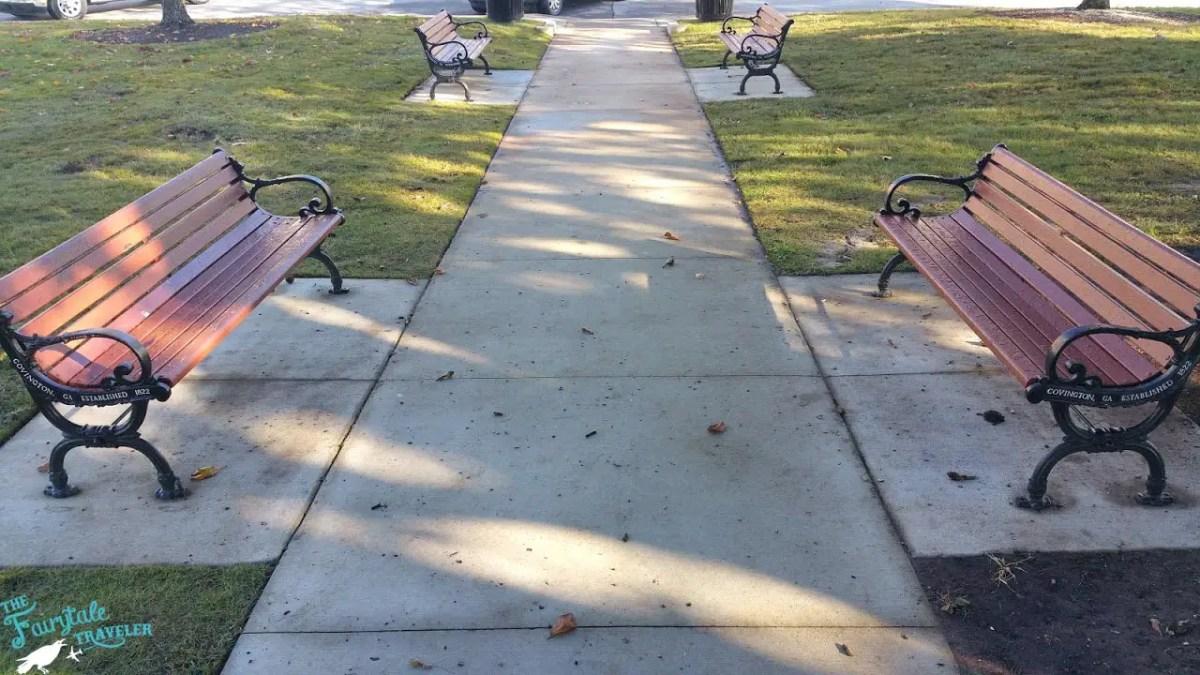 Benches in Mystic Falls Square Convington